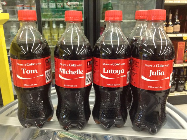 "Coke's ""Share A Coke"" campaign utilizes variable data printing."