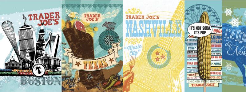 Trader Joe's bag designs