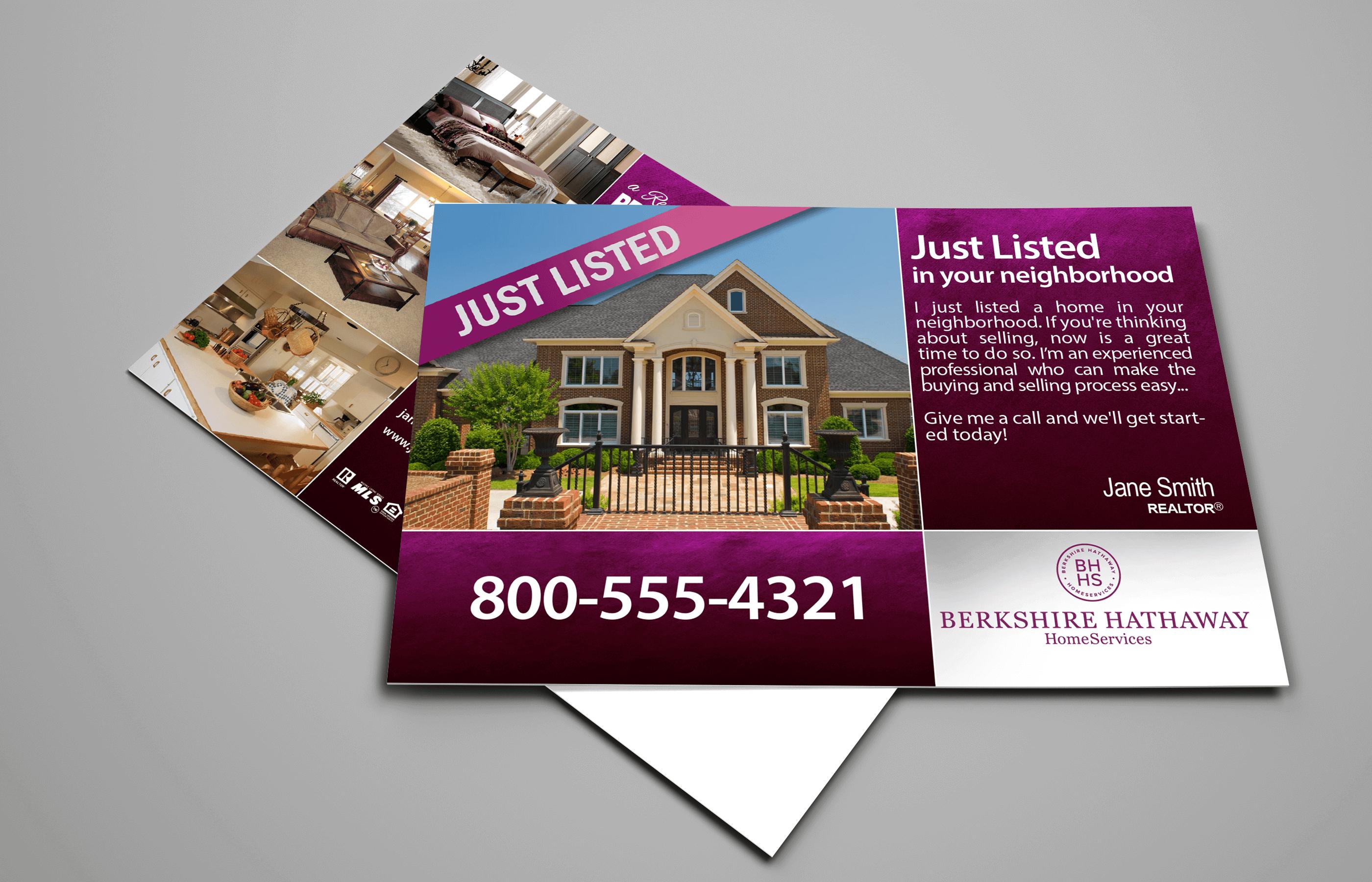 Berkshire Hathaway EDDM post card example