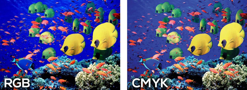 CMYK and RGB Color Difference