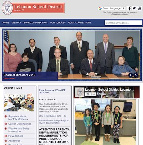 Web Design | Lebanon School District