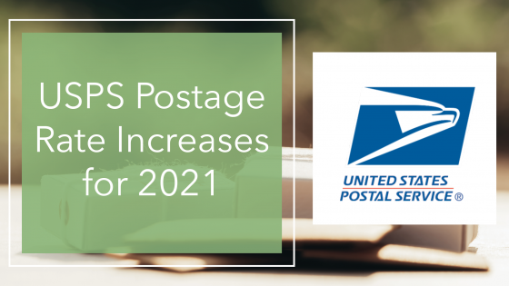 USPS Postage Rate Increases for 2021