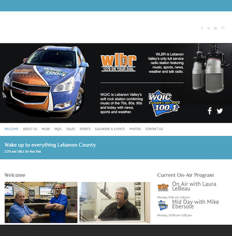Web Design   WLBR Radio